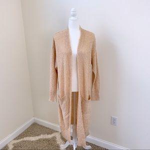 NWT Solutions Long Peach Knit Cardigan